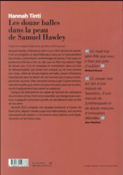Les douze balles dans la peau de Samuel Hawley - 4ème de couverture - Format classique