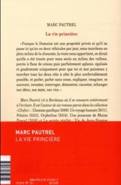 La vie princière - 4ème de couverture - Format classique