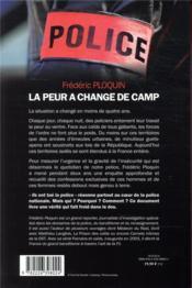 La peur a changé de camp - 4ème de couverture - Format classique