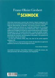 Le Schmock - 4ème de couverture - Format classique