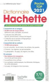 Dictionnaire Hachette poche top (édition 2021) - 4ème de couverture - Format classique