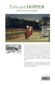 Edward Hopper : de l'oeuvre au croquis - 4ème de couverture - Format classique