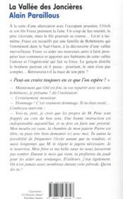 La vallée des joncières - 4ème de couverture - Format classique