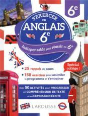 S'exercer en anglais ; 6e - Couverture - Format classique