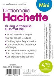 Dictionnaire Hachette mini - 4ème de couverture - Format classique