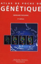 Atlas de poche de génétique (3e édition) - Couverture - Format classique