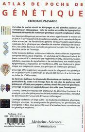 Atlas de poche de génétique (3e édition) - 4ème de couverture - Format classique