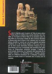 Histoire De La Rome Antique - 4ème de couverture - Format classique