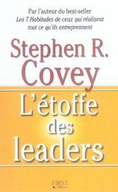 L'etoffe des leaders (2e édition) - Intérieur - Format classique