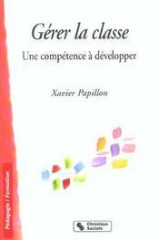 Gerer la classe une competence a developper - Intérieur - Format classique