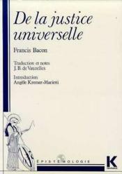De La Justice Universelle - Couverture - Format classique