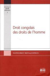 Droit congolais des droits de l homme - Couverture - Format classique