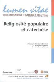 Religiosite Populaire Et Catechese - Couverture - Format classique