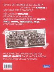 Le p'tit t.1 ; Chirac, tout p'tit déjà cancre? - 4ème de couverture - Format classique