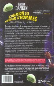 Armageddon t. 2 la série B ; l'invasion des mangeurs d'hommes - 4ème de couverture - Format classique