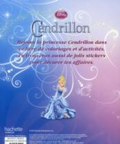 Cendrillon ; coloriages, jeux et stickers - 4ème de couverture - Format classique