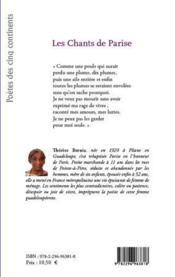 Les chants de parise - 4ème de couverture - Format classique