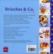 Brioches & Co. - 4ème de couverture - Format classique