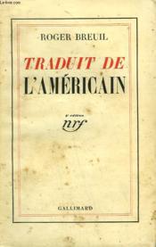 Traduit De L'Americain. - Couverture - Format classique