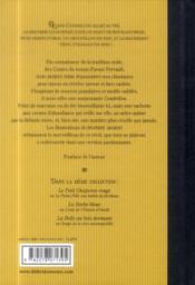 Cendrillon ou la belle au soulier d'or - 4ème de couverture - Format classique