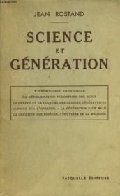 Science Et Generation - Couverture - Format classique