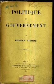 Politique Et Gouvernement. - Couverture - Format classique