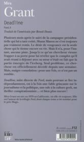 Feed T.2 ; deadline - 4ème de couverture - Format classique
