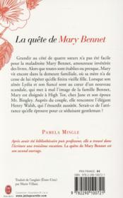 La quête de Mary Bennet - 4ème de couverture - Format classique