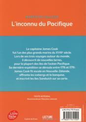 L'inconnu du Pacifique ; l'extraordinaire voyage du capitaine Cook - 4ème de couverture - Format classique
