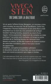 Du sang sur la Baltique - 4ème de couverture - Format classique