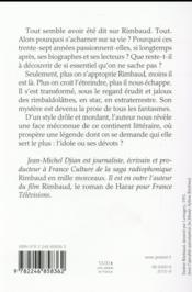 Les rimbaldolâtres - 4ème de couverture - Format classique