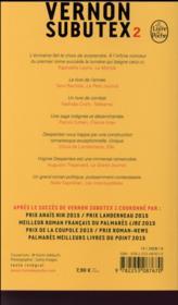 Vernon Subutex T.2 - 4ème de couverture - Format classique