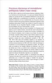 Processus électoraux et immobilisme politique au Gabon (1990-2009) - Couverture - Format classique