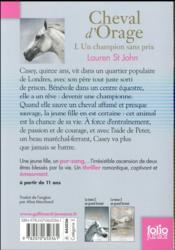 Cheval d'orage t.1 ; un champion sans prix - 4ème de couverture - Format classique