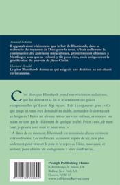 Jean-Christophe Blumhardt ; homme de grande foi - 4ème de couverture - Format classique