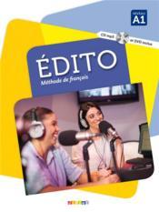 Édito ; niveau A1 ; livre + CD MP3 + DVD - Couverture - Format classique