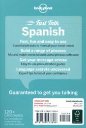 FAST TALK ; Spanish (4e édition) - 4ème de couverture - Format classique