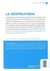 La géopolitique ; 50 fiches pour comprendre l'actualité (7e édition) - 4ème de couverture - Format classique