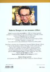 Roberto Begnini, portrait - 4ème de couverture - Format classique