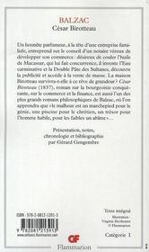 César Birotteau - 4ème de couverture - Format classique