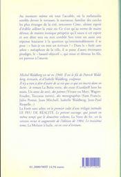Foret Sans Arbre (La) - 4ème de couverture - Format classique