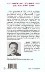 S'affranchir des contradictions ; André Breton de 1925 à 1930 - 4ème de couverture - Format classique