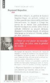 PPP ; photographies de personnalités politiques - 4ème de couverture - Format classique