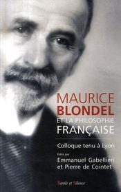Maurice Blondel et la philosophie française - Intérieur - Format classique