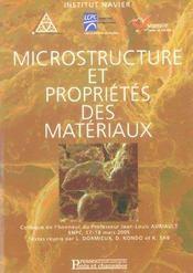 Microstructure et proprietes des materiaux - Intérieur - Format classique