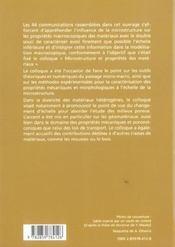 Microstructure et proprietes des materiaux - 4ème de couverture - Format classique