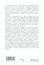 Raymond aron et la liberte politique - actes du colloque international - 4ème de couverture - Format classique