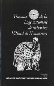 Revue travaux de la loge nationale n.44 ; expression des voies spirituelles - Intérieur - Format classique