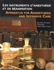 Instruments D'Anesthesie Et De Reanimation - Couverture - Format classique
