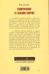 Comprendre Le Second Empire - 4ème de couverture - Format classique